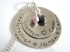 Family+Necklace+Personalized+Hand+Stamped+Necklace+by+lynxrus5,+$36.00