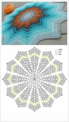 Today we have one more very special crochet project for you and one more crochet tutorial for this amazing doily. Crochet doilies are just wonderful for adding a Th Ripple crochet mandala in many colors Crochet Rug Patterns, Crochet Mandala Pattern, Crochet Diagram, Crochet Stitches, Free Crochet, Pattern Flower, Crochet Borders, Cross Stitches, Crochet Lace
