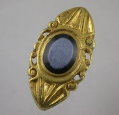 Late Roman, early Byzantine gold and  niccolo ring.