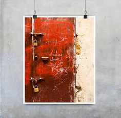 Morocco Door Print  Grungy red painted door by EyeshootPhotography (Art & Collectibles, Photography, Paper, Print, Home Decor Wall Art, Travel Art Photo, Fine Art Photgraph, Red Metal Door, Cream Painted Wall, Grungy Red Wall, Morocco Africa Art, Street Art Urban, 10x8 11x14, Fpoe Poe Etsymcr)