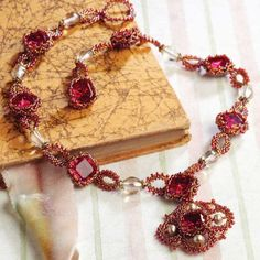Bead Romantique by Lisa Kan - a book filled with romantic beaded jewelry designs. Medici Rhinestone Necklace
