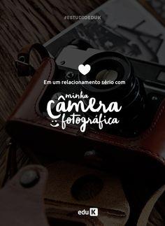 A câmera fotográfica é a grande e maior parceira de qualquer fotógrafo. Para cima e para baixo, nunca o abandona. E na eduK você aprende a usá-la da melhor maneira. Acesse!