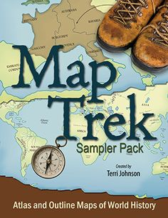 Free 32 Page Sampler of Map Trek by Knowledge Quest. The best ancient and modern map resource for every school year. Great for Classical Conversations, Eclectic homeschooling, and Tapestry of Grace.