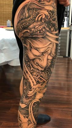Japanese Tattoo The Ultimate Guide is part of Butterfly tattoos Chest For Women - The very best Japanese Tattoos plus the best Japanese tattoo sleeves, half sleeves and full body suits Japanese Leg Tattoo, Japanese Legs, Japanese Tattoo Designs, Japanese Sleeve Tattoos, Japanese Warrior Tattoo, Japan Tattoo Design, Japanese Tattoos For Men, Japanese Dragon, Leg Sleeve Tattoo