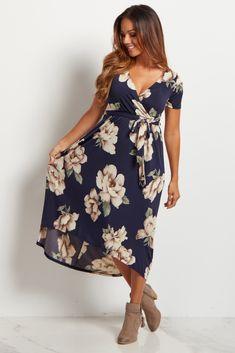 Navy-Blue-Floral-Hi-Low-Midi-Dress