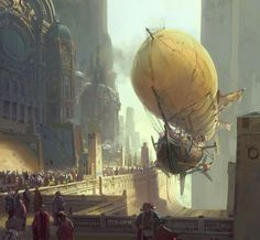 Airship Port. For more #Steampunk goodness, visit Ætherworks at http://www.noelbagwell.com/aetherworks