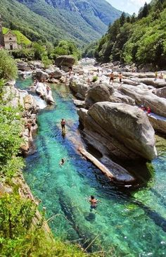 101 Most Beautiful Places To Visit Before You Die! (Part II) Pictured: Valle Verzasca, Switzerland Places To Travel, Places To See, Travel Destinations, Travel Tips, Travel Deals, Budget Travel, Travel Guides, Travel Bucket Lists, Airline Travel