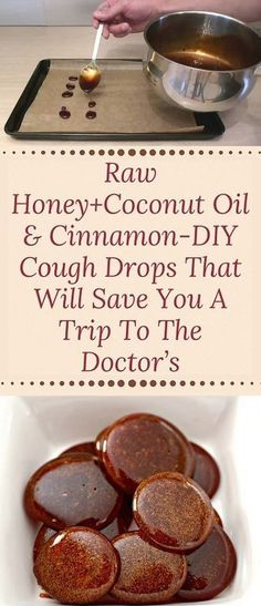 Raw honey + coconut oil & cinnamon-DIY cough drops that will give you a trip to . - Raw honey + coconut oil & cinnamon DIY cough drops that will give you a trip to … - Cold Remedies, Natural Health Remedies, Natural Cures, Herbal Remedies, Natural Healing, Natural Treatments, Natural Cough Remedies, Natural Foods, Natural Beauty