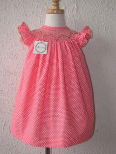Girl's smocked dresses Girls bishop dress flutter by handsmocked, $47.00