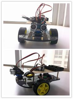 Ultrasonic Smart Car Kit For Arduino($73.35 + Free Shipping)  http://www.icstation.com/product_info.php?products_id=2207