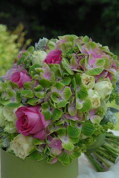Svatební kytice hortenzie