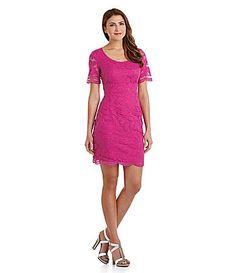 159.Maggy London Scalloped Lace Dress #Dillards
