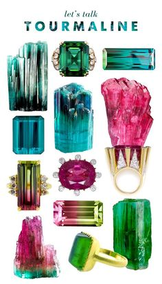 Friday Favorites - Beauty Bets - Tourmaline baubles via Mrs. Minerals And Gemstones, Rocks And Minerals, Green Gemstones, Tourmaline Jewelry, Rocks And Gems, October Birth Stone, Stones And Crystals, Gem Stones, Krystal