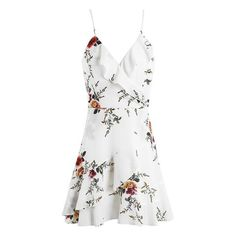 Simplee A-line ruffles floral print summer dress women Deep v neck backless bandage sexy dress Casual party short dress - TakoFashion - Women's Clothing & Fashion online shop White A Line Dress, Sexy White Dress, White Dress Summer, White Floral Dress, Floral Dresses, Floral Lace, Sexy Summer Dresses, Casual Dresses, Mini Dresses
