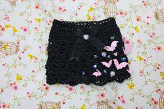 Bats miniskirt n.001 Unoa/Minifee/Slim MSD by cafelait on Etsy