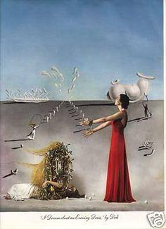 """Salvador Dali """"A dream about an evening dress"""" from Vogue, New York, 1937"""
