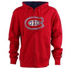 Montreal Canadiens Old Time Hockey Conway Full Zip Hoodie - Red - $48.99