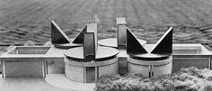 Wheels of Heaven Church, 1966 (Aldo Van Eyck) looks a bit like crazy cat ears... another fusion of animal and architecture ? :) --M2