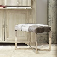 Wisteria - Furniture - Shop by Category - Poufs & Stools -  Crosshair Hide Stool - $349.00