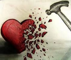 Broken hearted. Not really, but I like this picture.