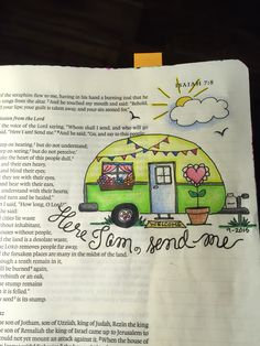 Isaiah 6:8 Whom shall I send, and who will go for Us? Sherrie Bronniman - Art Journalling: In My Bible