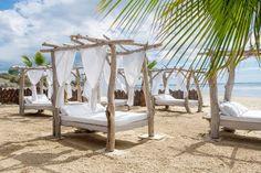 Outdoor Daybed, Outdoor Seating, Outdoor Decor, Beach Cabana, Beach Tent, La Grande Motte, Rustic Beach Decor, Fairytale House, Beach Cafe