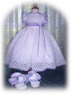 Tiny Olivia Lace Dress Ensemble Crochet PDF e by silkorchid, $3.50