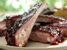 "BBQ RIBS WITH ROOT BEER BBQ SAUCE: ~ From: ""Food Network.Com."" ~ Recipe Courtesy Of: BOBBY FLAY (Bobby Flay's Barbecue Addiction - Southern Style Barbecue) ~ Prep.Time: 1 hr, 5 min; Inactive Time: 8 hrs, 30 min; Cook Time: 3 Hrs; Level: Advanced; Yield: (6 Servings)."