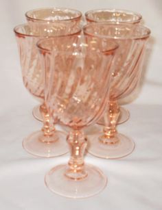 Depression Glass French Swirl - I own the reproduction of these glasses.