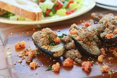Grilled Baby Eggplant with Turkey Sausage & Tomatoes - Cooking for Keeps Baby Eggplant, Bagel Shop, San Marzano Tomatoes, Cooking Tomatoes, Gourmet Cheese, Grilled Eggplant, Turkey Sausage, Plum Tomatoes, Recipes From Heaven
