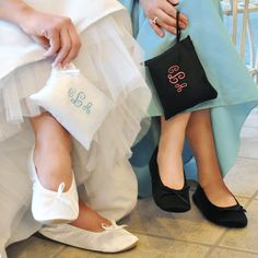Once you remove our Ballet Shoes from their Embroidered Gift Pouch, you'll have the pleasure of slipping your feet into stylish flats that are as chic as they are comfortable. As one of the hottest trends on the market, these satin dancing shoes are a great gift for everyone from bridesmaids and sorority sisters to family and friends. There's no doubt