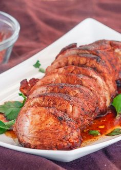 Cajun Honey Pork Tenderloin – sweet and spicy pork tenderloin that's super tender and simply delicious. You know what's a super quick and. Cooking Pork Tenderloin, Pork Loin, Pork Roast, Pork Tenderloins, Pork Recipes, Cooking Recipes, Recipies, Grilled Recipes, Cooking Kale