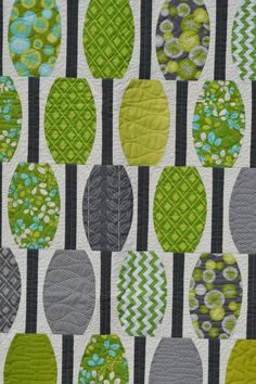 Modern quilted throw wall hanging Quilt by raincityquilts on Etsy