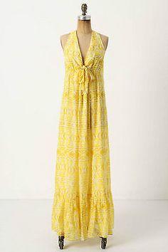 Anthropologie yellow dress