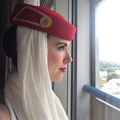 Emirates Airlines Stewardess #crewlife #crewfie #heademupmoveemout