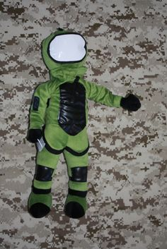 Bomb Suit Stuffed Doll (10-sec Voice Recorder optional) $35.00 great idea for deployments