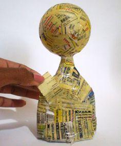 Como fazer um boneco de papel maché, passo a passo                                                                                                                                                     Mais                                                                                                                                                                                 Mais
