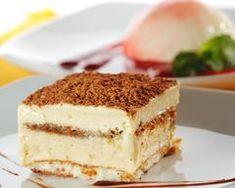 Dessert - Tiramisu Cheesecake with Chocolate Sauce Stock Photo - 5123070 Sopapilla Cheesecake Bars, Tiramisu Cheesecake, Low Carb Desserts, Dessert Recipes, Biscuits, Cake Stock, Coffee Dessert, Baking Tins, Healthy Treats