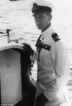 October Prince Philip, Duke of Edinburgh in naval uniform on a boat in Malta. (Photo by Keystone/Getty Images) Young Prince Philip, Prince William, Princess Elizabeth, Queen Elizabeth Ii, Princess Diana, Edinburgh, Malta, Prince Philippe, Prinz Philip