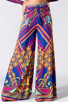 Karen, you could rock these   Flying Tomato Floral Print Wide Leg Pants