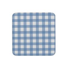 Blue Gingham Coasters