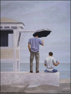 lost and found, oil on canvas, by steve walker