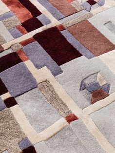 The detail of a handtufted rug Stråler. Norse Mythology, Mid-century Modern, Mid Century, Lights, Quilts, Detail, Rugs, Collection, Design