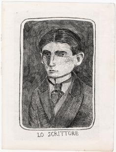 Kafka portrait | Nadezda Fava illustration