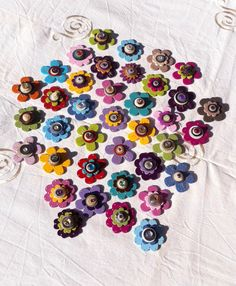 Magnets fleurs multicolores