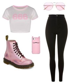 """""""Untitled #164"""" by paolaporoj on Polyvore featuring Dr. Martens, Topshop, Oliver Peoples and Kate Spade"""
