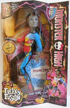 Monster High Freaky Fusion Neighthan Rot Doll RARE LOOK