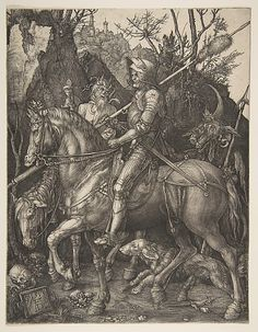 Albrecht Dürer (German, 1471–1528). Knight, Death and the Devil, 1513. The Metropolitan Museum of Art, New York. The Sylmaris Collection, Gift of George Coe Graves, 1920 (20.46.23)