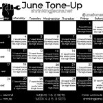 Monthly Workout Calendar - The Sisterhood of the Shrinking Jeans LLC