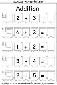 Beginner Addition – 5 Worksheets
